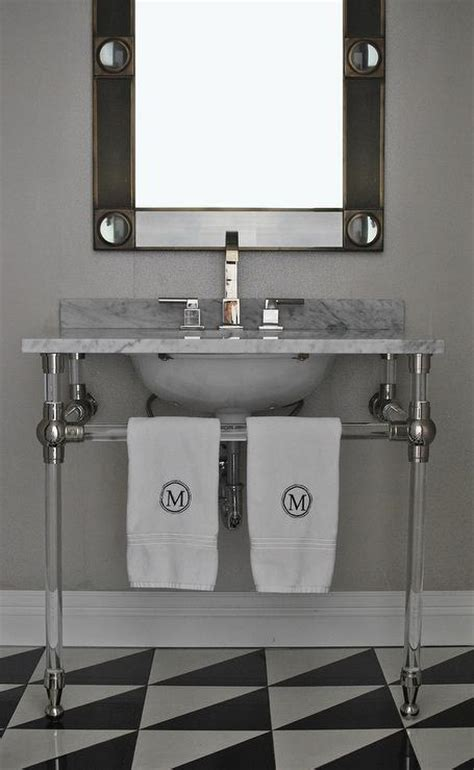 Black Industrial Bathroom Mirror by Industrial Metal Bathroom Vanity Design Ideas