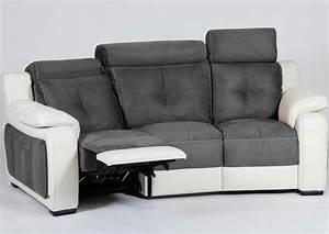 acheter votre canape 3 places contemporain tetieres With canapé home cinéma 2 places