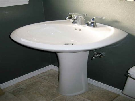 installing kohler bathroom sink kitchen how to install a pedestal sink pedestal bathroom