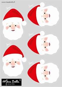 Serviette De Noel En Papier : planche t te p re noel imprimer et d couper bricolage et diy christmas holidays ~ Melissatoandfro.com Idées de Décoration