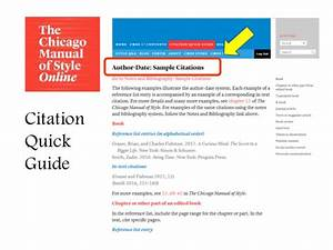 Chicago Style Citation Quick Guide