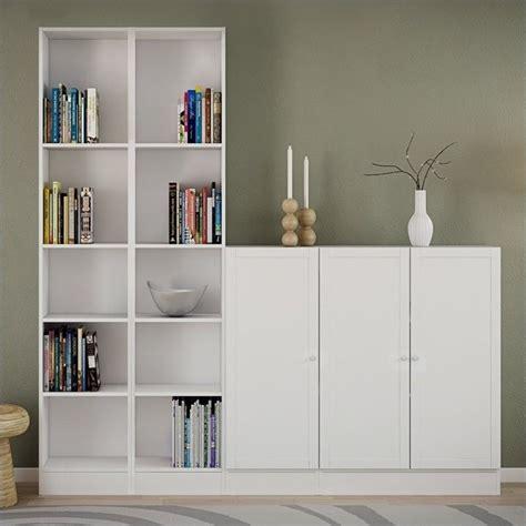 tall narrow  shelf bookcase  white