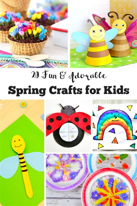20 Fun And Adorable Spring Crafts For Kids  Mum In The