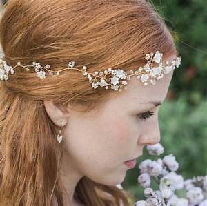 Violette Garland Flower Pearl And Crystal Hair Garland