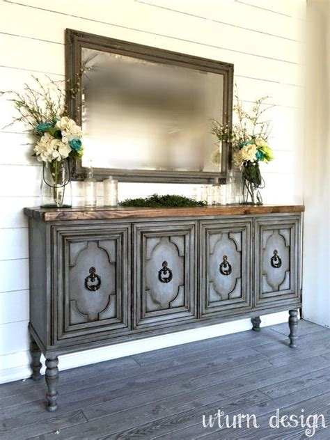 Painted Sideboard Ideas by Sold Painted Grey Buffet Entryway Table Sideboard Tv