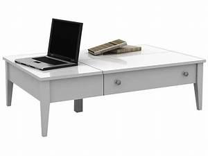 Conforama Table Basse : table basse flip coloris blanc conforama pickture ~ Teatrodelosmanantiales.com Idées de Décoration
