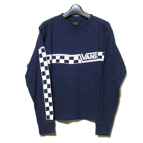 CROWN STORE - USED BRAND CLOTHING STORE 70u0026#39;s Vintage VANS 70s vintage vans USA Made long sleeve ...