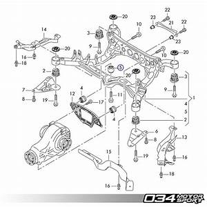 034motorsport Rear Differential Mount Upgrade Kit  B8 Audi A4  S4  Rs4  A5  S5  Rs5  Q5  Sq5  U0026 C7