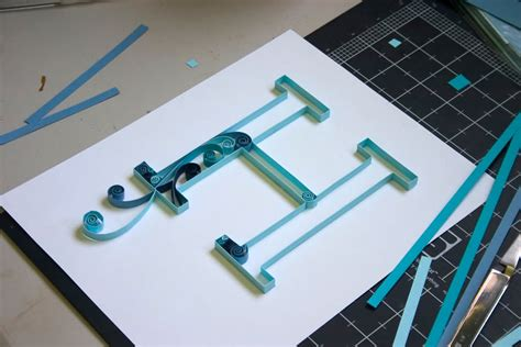 craftastical tutorial quilled monogram letter