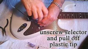 How To Easy Change A Strat Fender Pickguard  And Replace