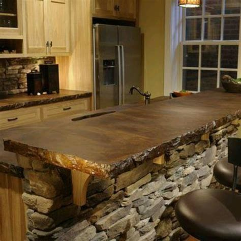 stained concrete countertops petrified wood countertops my home
