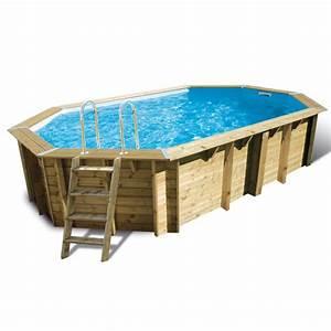 Liner Piscine Octogonale : piscine bois ocea ubbink 355x550cm h120cm liner bleu sable ~ Melissatoandfro.com Idées de Décoration