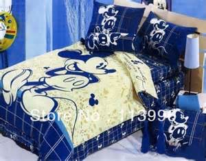 Queen Size Mickey Mouse Bedding blue mickey mouse cartoon kids comforter set queen size