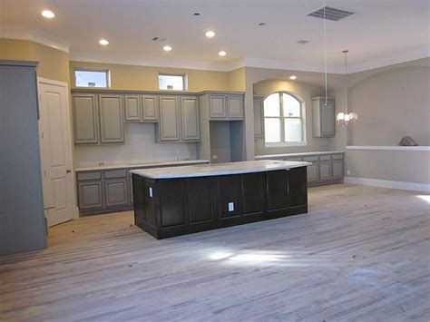 gray kitchen cabinets with hardwood floors home design with grey wood floor search home
