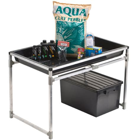 flood and drain table newagehydroponics com flood and drain kit with stand