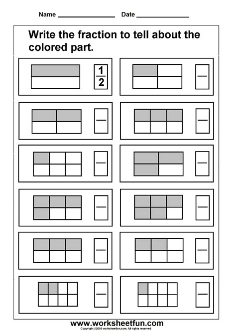 Fraction  Model  3 Worksheets  Free Printable Worksheets Worksheetfun