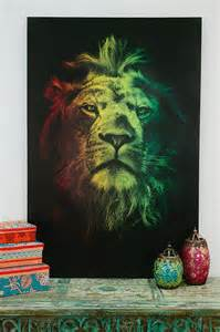 Rasta Lion Painting Canvas