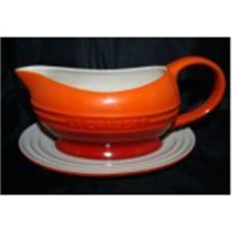 Le Creuset Gravy Boat Volcanic by Le Creuset Gravy Dish Boat And Saucer Volcanic Orange 0