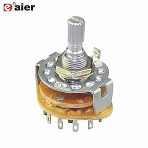 50pcs Rbs 1 2  3  4  6  12 Position Metal Rotary Switch Fan