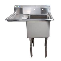 stainless steel utility sink with drainboard left drainboard regency 38 1 2 quot 16 stainless steel