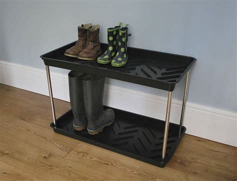 shoe boot rack 2 tier shoe and wellington boot rack tray welly boot