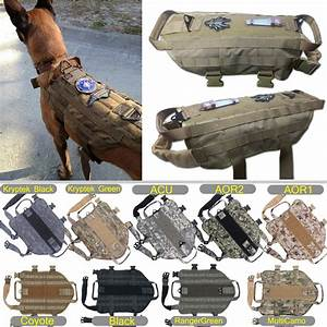 Tactical Military K9 MOLLE Service Dog Harness Police ...