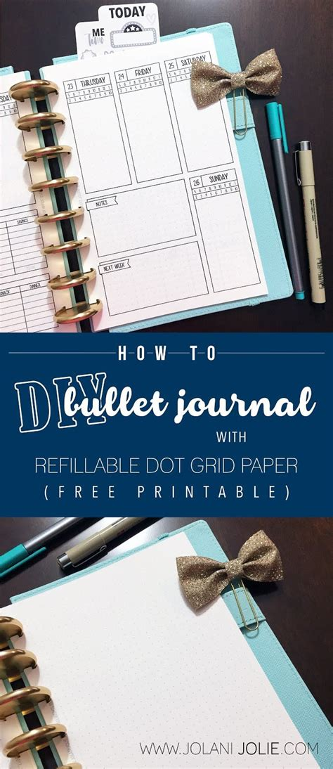 diy bullet journal  refillable dot grid paper