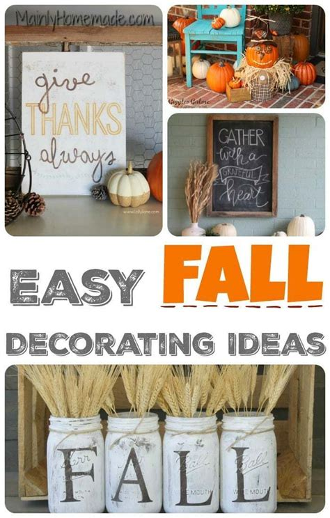 simple fall decorating ideas  mommy club  homemade