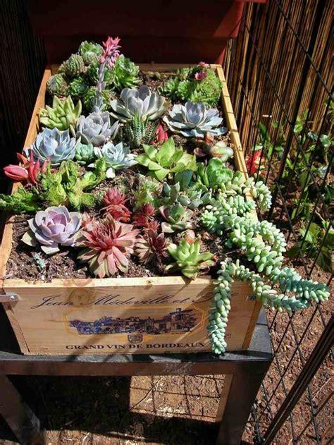 decoration ecologique avec une ancienne caisse bois