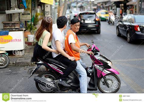 Motorcycle Taxi, Bangkok, Thailand Editorial Stock Photo