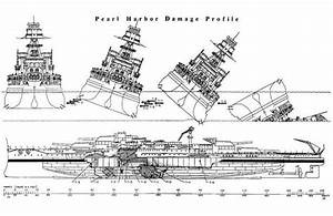 This Drawing Shows The Damage To The Uss Oklahoma Caused