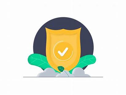 Shield Icon Animation Services Dribbble Infotech Tho