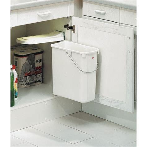 poubelle porte cuisine poubelle de porte de cuisine 1 bac de 19 litres bricozor