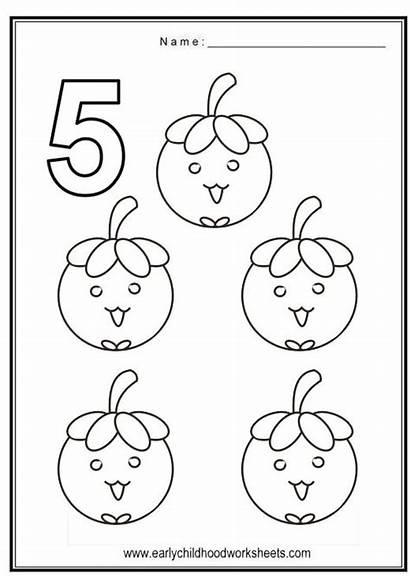 Coloring Number Numbers Pages Worksheets Worksheet Preschool
