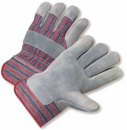 Gloves Palm Safety Leather Cowhide Select Hand