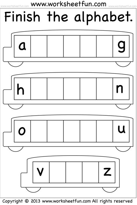 missing letters   baby letter worksheets school