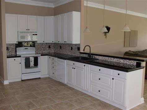 white cabinets tile floor interior rennovations st charles mo st peters mo 349 | white cabinets drop lights tile1