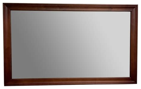 Ronbow Transitional Solid Wood Framed Bathroom Mirror
