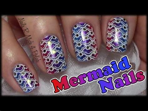 nageldesign selber machen kurze nägel mermaid nails fischschuppen sting nageldesign f 252 r kurze n 228 gel einfach selber machen