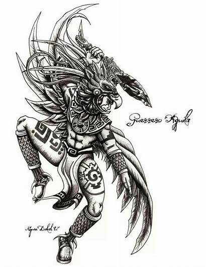 Guerrero Aztec Aguila Aztecas Tattoo Warrior Deviantart