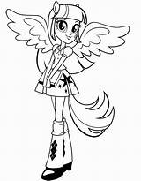 Coloring Equestria Pages Pony sketch template