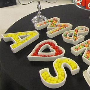1000 images about decorate with letter dishes on With clear letter candy dishes