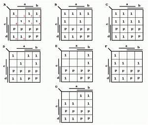 7 Segment Anzeige Kv Diagramm Digitaltechnik  Schaltnetze