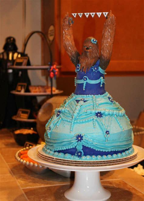 year  girls princess chewbacca birthday cake