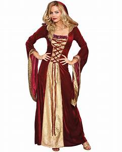K2305 Burgundy Gown Game Thrones Renaissance Medieval ...