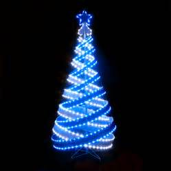 christmas trees and lights 180cm 6ft outdoor indoor blue white 818 led spiral tape pop up