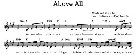 Musicday / Above All(모든 능력과 모든 권세) / / 단선(멜로디