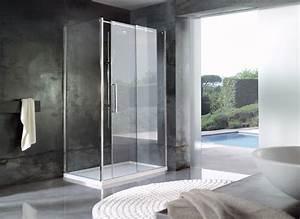 Soluzioni con pareti doccia in cristallo e piatti doccia di grandi dimensioni SINTESIBAGNOBLOG