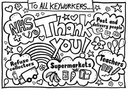 Thank Key Poster Nhs Worker Keyworkers Workers