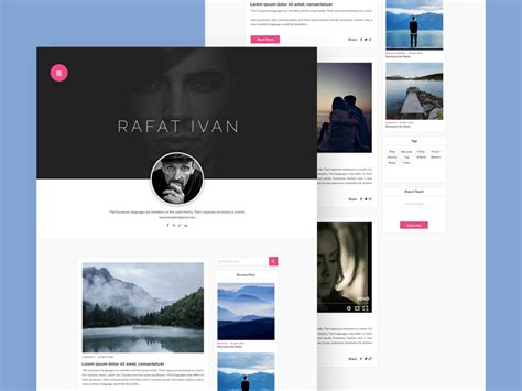 Simple Personal Blog Website Template - Free Download